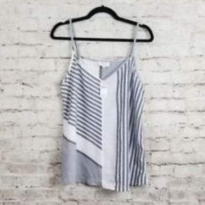 Grey striped tank top